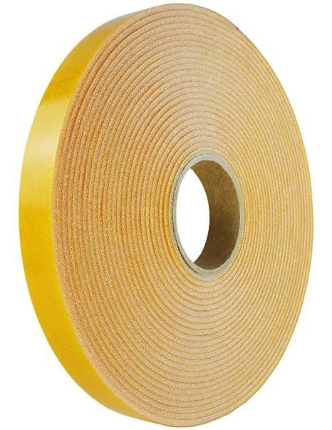 PU - cinta adhesiva espuma - 10 m/19 mm x 3 mm blanco PETP