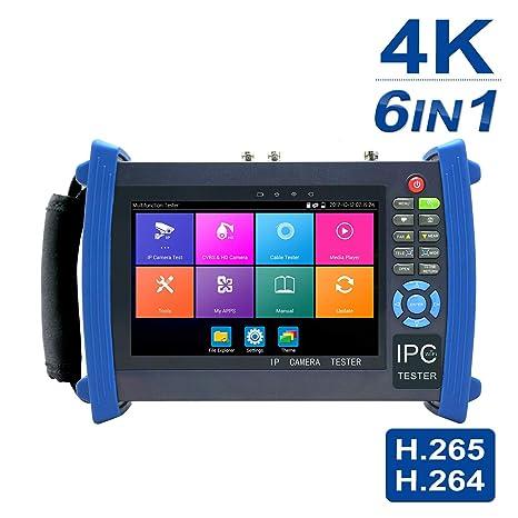 Probador de cámaras de seguridad, 7 pulgadas 1080p Retina Display, 6 en 1 Monitor