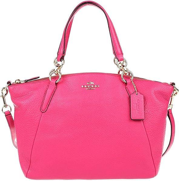 0d03b7903a18 Coach F36675 Small Kelsey Satchel in Pebble Leather Dahlia  Handbags ...
