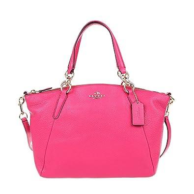 c17d940a14f1 Coach F36675 Small Kelsey Satchel in Pebble Leather Dahlia  Handbags   Amazon.com