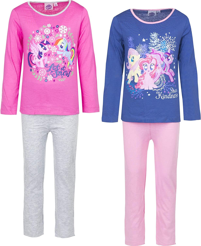 HASBRO My Little Pony bimba manica corta Pigiama Pigiama Pjs Set 100/% COTONE