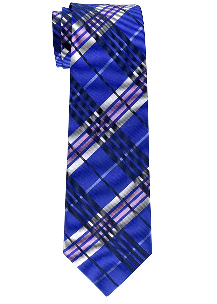 Retreez Stylish Tartan Plaid Check Woven Boy's Tie - 8-10 years RTZ-KDTIE-0143-BLK
