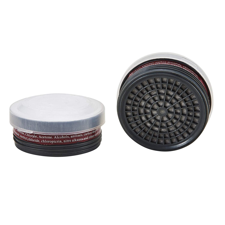 Organic Vapor Full Face Respirator Respiratory Protection With Safety Respirator (1 Pair LDY3 Filter Cartridges)