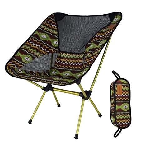404c58a17b9 Folding Camping Back Chair by ShineTrip for Home Patio Outdoor, Sturdy  Aluminium 330 lbs Heavy Duty & Breathable Mesh, Ultralight Backpack Chair  for ...