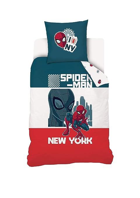 Disney Juego de Cama Spiderman 140 x 200 cm 100% algodón: Amazon ...