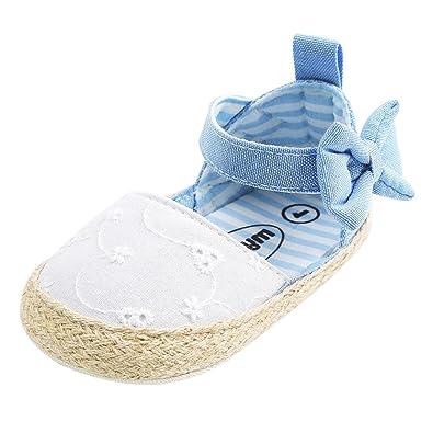 41b7a378d263f Minuya Chaussures de Bébé, Chaussures Bebe Fille Cuir Souple Bowknot Ete  Sandales Chaussures Premiers Pas