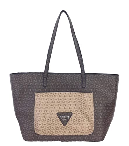dd406b4ba4 GUESS  G  Logo Faux Leather Large Tote