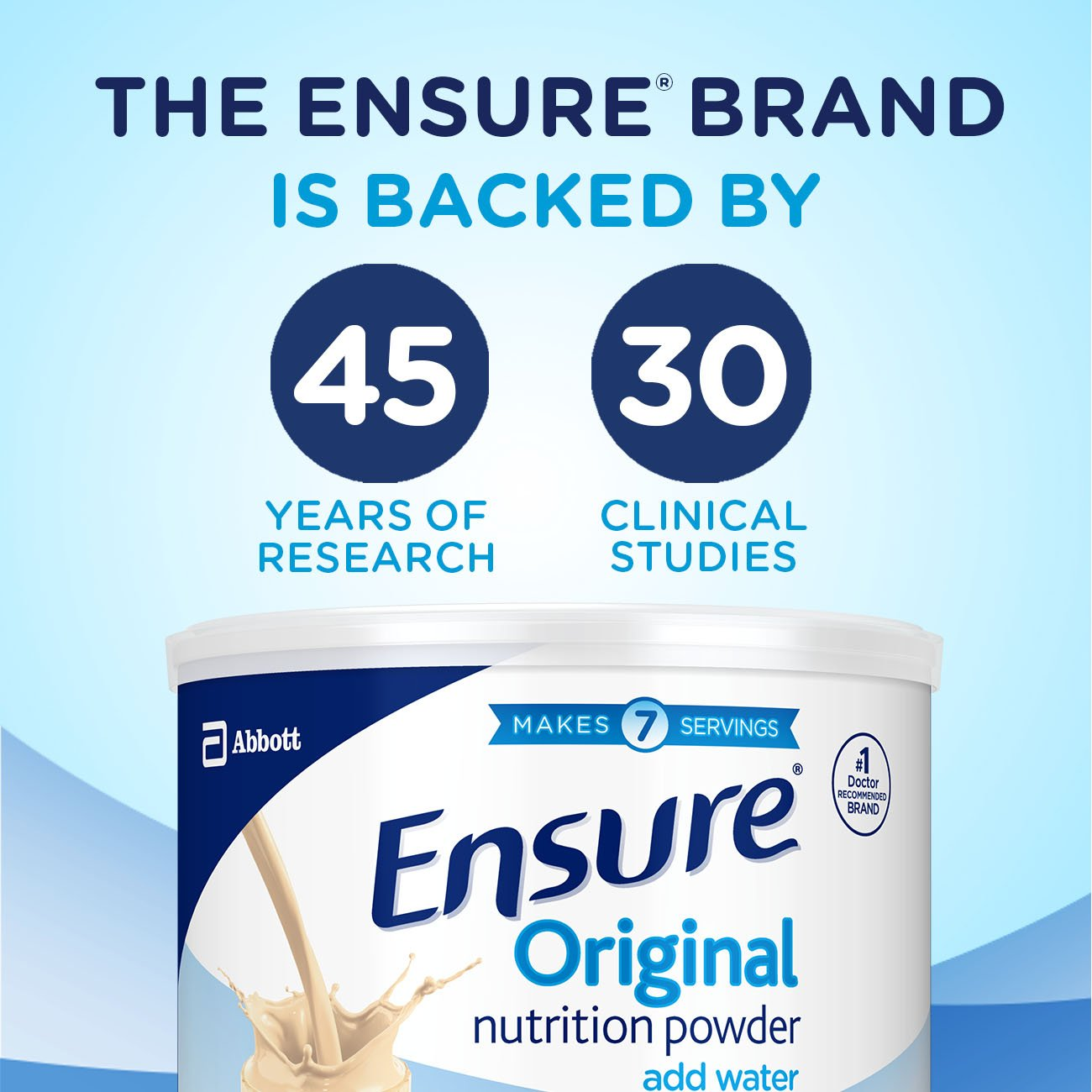Ensure Original Nutrition Powder with 8 grams of protein, Meal Replacement, Vanilla, 6 count by Ensure (Image #9)
