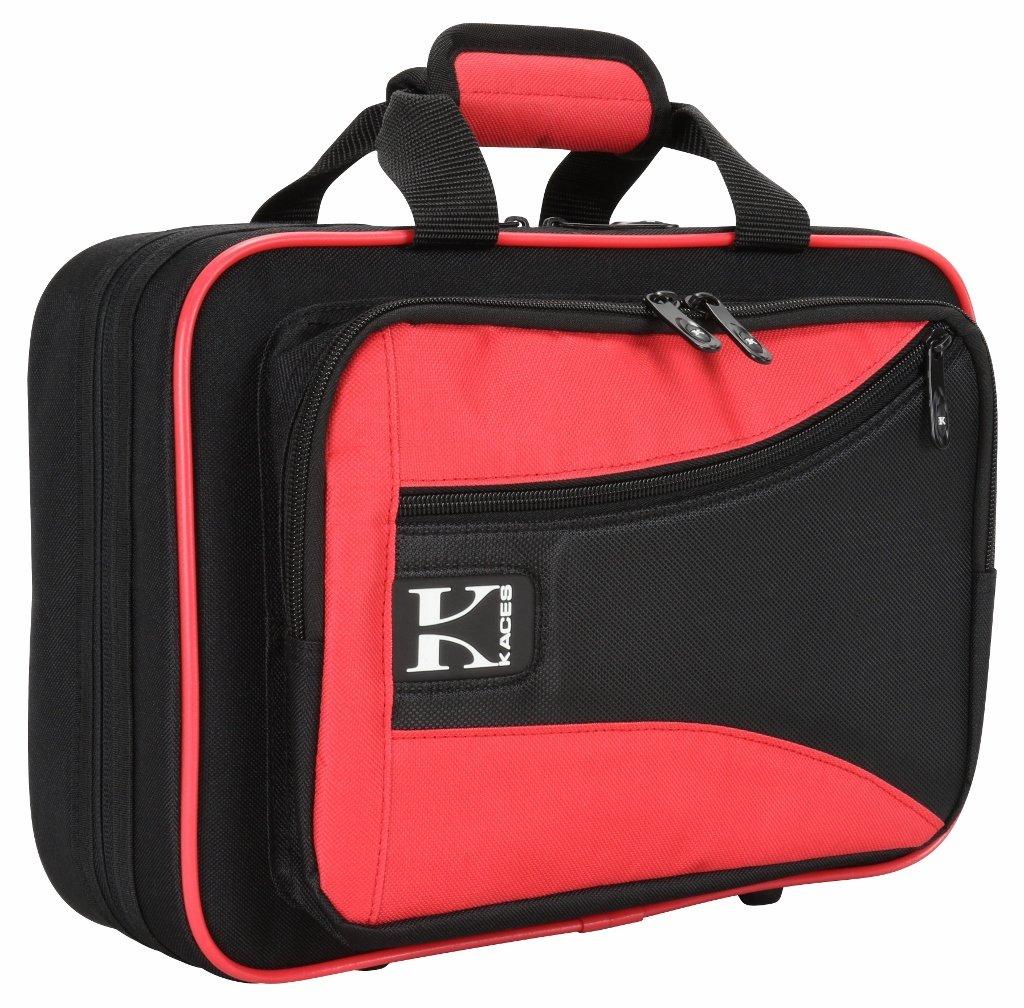 Kaces KBO-CLRD Lightweight Hardshell Clarinet Case, Red