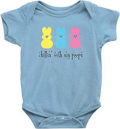 163 Baby Chicks Onesie\u00ae Easter Baby Bodysuit Funny Easter Onesie\u00ae Chillin With My Peeps Baby Onesie\u00ae Easter Candy Onesie\u00ae