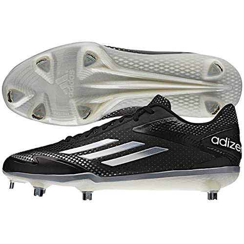 the latest baee6 aa090 adidas Mens Adizero Afterburner 2.0 BlackTech Grey MetallicWhite Sneaker  7 D (