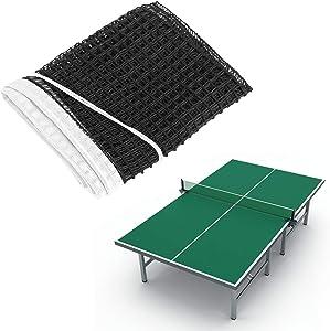 Yosoo Health Gear Table Tennis Net, Portable Table Tennis Net Replacement, Nylon Outdoor Indoor Tables Home Tournament Net, Black, 6ft