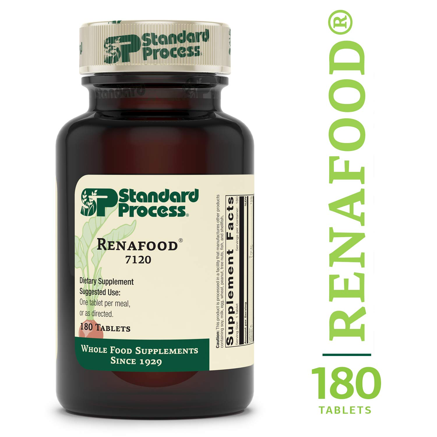 Standard Process – Renafood – Whole Food Kidney Support Supplement for Healthy Renal Function, Vitamin A, Vitamin C – 180 Tablets