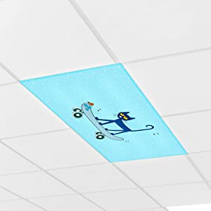 Educational Insights Pete the Cat Calming Light Filters 3-Pack, Reduce Glare & Flicker, Easy Setup for Office, Hospitals, Home & Classrooms