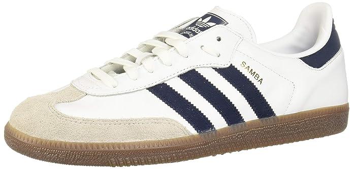 adidas Originals Samba OG Schuhe weiß mit blauen Streifen