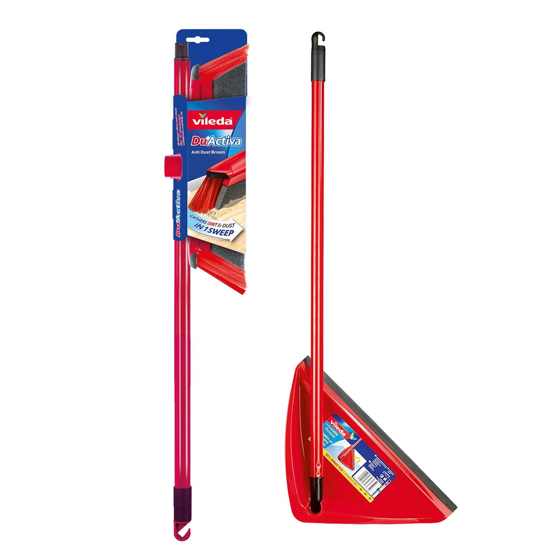 Vileda Duactiva Anti Dust Broom Long Handle Dustpan
