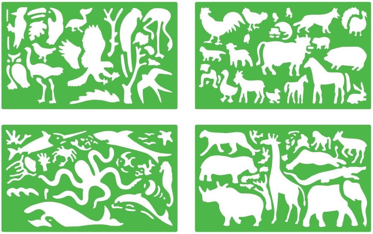 Quercetti  Plantillas de dibujo diseño de animales
