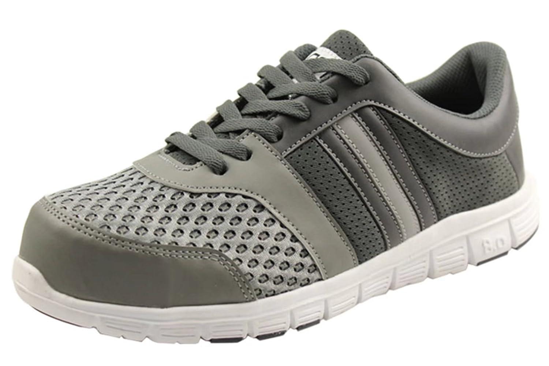 Amazon.com  DDTX Mens Steel Toe Breathable Safety Shoes Grey  Shoes 493576e6506