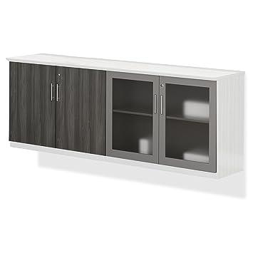Amazon.com : Mayline Medina Series Low Wall Cabinet Doors ...