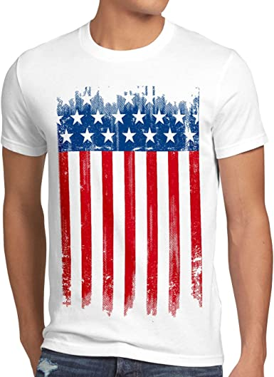 style3 USA Pabellón Nacional Camiseta para Hombre T-Shirt Bandera Estados Unidos us Stars Stripes: Amazon.es: Ropa y accesorios