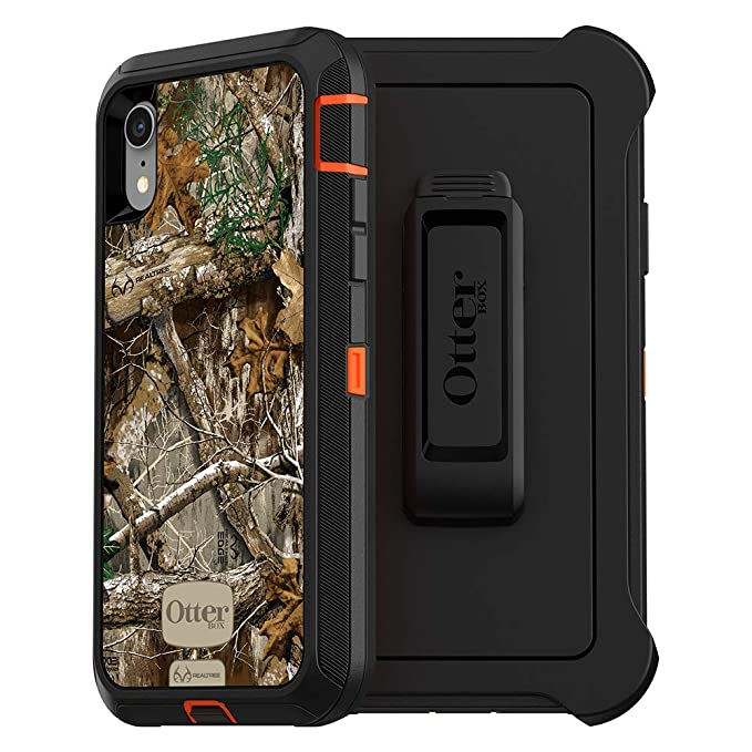 detailed look 71d12 15a54 OtterBox Defender Series SCREENLESS Edition Case for iPhone Xr - Retail  Packaging - RT Blaze Edge (Blaze Orange/Black/RT Edge Graphic
