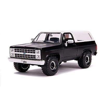 1980 Chevrolet Blazer K5 Off Road Matt Black and White Just Trucks 1/24 Diecast Model Car by Jada 31590: Toys & Games