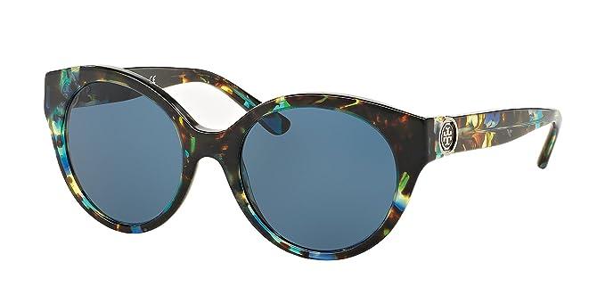 3bf35ca87bd7 Tory Burch TY7087 Sunglasses 314580-52 - Blue Brown Tort Frame, Dark Blue  Solid: Amazon.ca: Jewelry