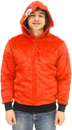 Adult elmo face full-zip hoodie