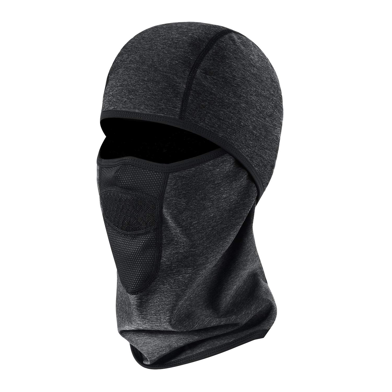 Aegend Balaclava Windproof, Ski Face Mask, Winter Motorcycle Neck Warmer Tactical Balaclava Hood Polyester Fleece for Women Men Youth Snowboard Cycling Hat Outdoors Helmet Liner Mask,1 Piece Black