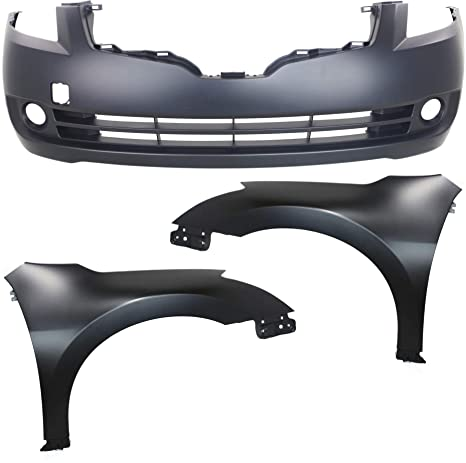 NEW FRONT BUMPER COVER PRIMED FITS 2007-2009 NISSAN ALTIMA SEDAN 62022JA040