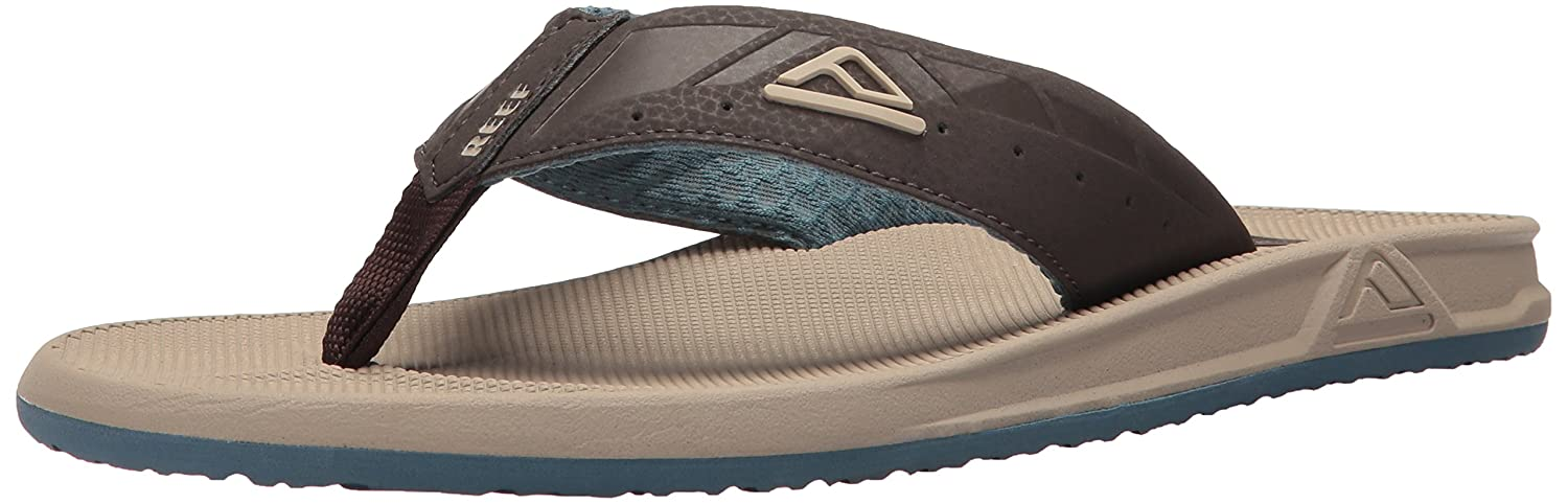TALLA 45 EU. Reef Phantoms Sand/Light Blue, Chanclas para Hombre