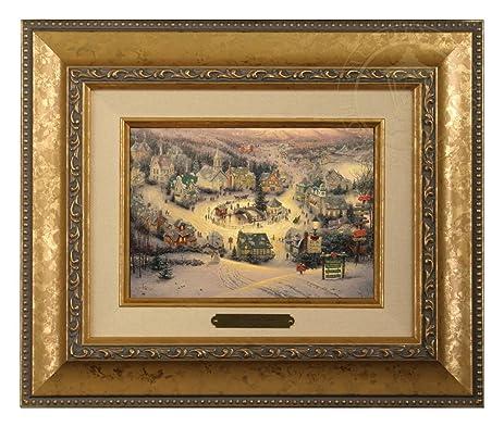Amazon Thomas Kinkade St Nicholas Circle Brushwork Gold Frame