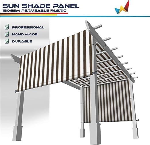 Windscreen4less - Toldo Universal de Repuesto para pérgola, Color marrón: Amazon.es: Jardín