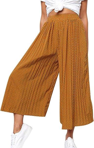 cinnamou Pantalones Mujer, Pantalones Anchos con Estampado De ...