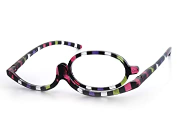 f8c4769e6e2 Make-Up Glasses Multi Stripe by Goodlookers with Switchable Lense GX1039MUL