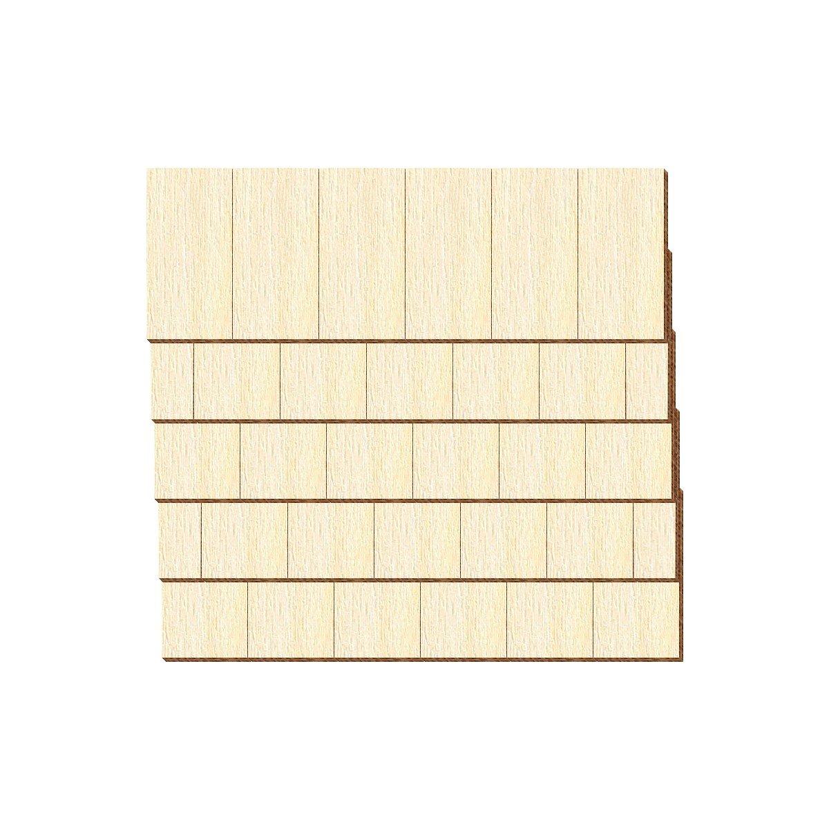 Pack mit:75 St/ück Gr/ö/ßen- und Mengenauswahl Echtholz Furnier dunkle Schindeln Schwarzwaldform rechts Schindelgr/ö/ße:150mm x 75mm