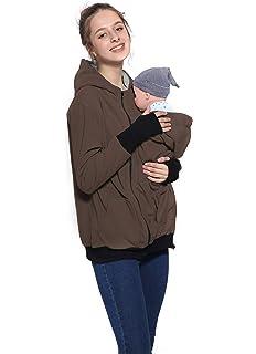 3 en 1 Maternité Sweats à Capuche Polaire, Kangourou Porte-bébé Porteur  Femme Zipper 608c4b0289b