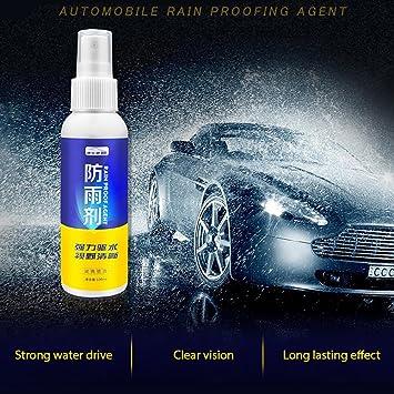 AOLVO - Spray hidrofóbico para Cristal, antilluvia para Parabrisas ...
