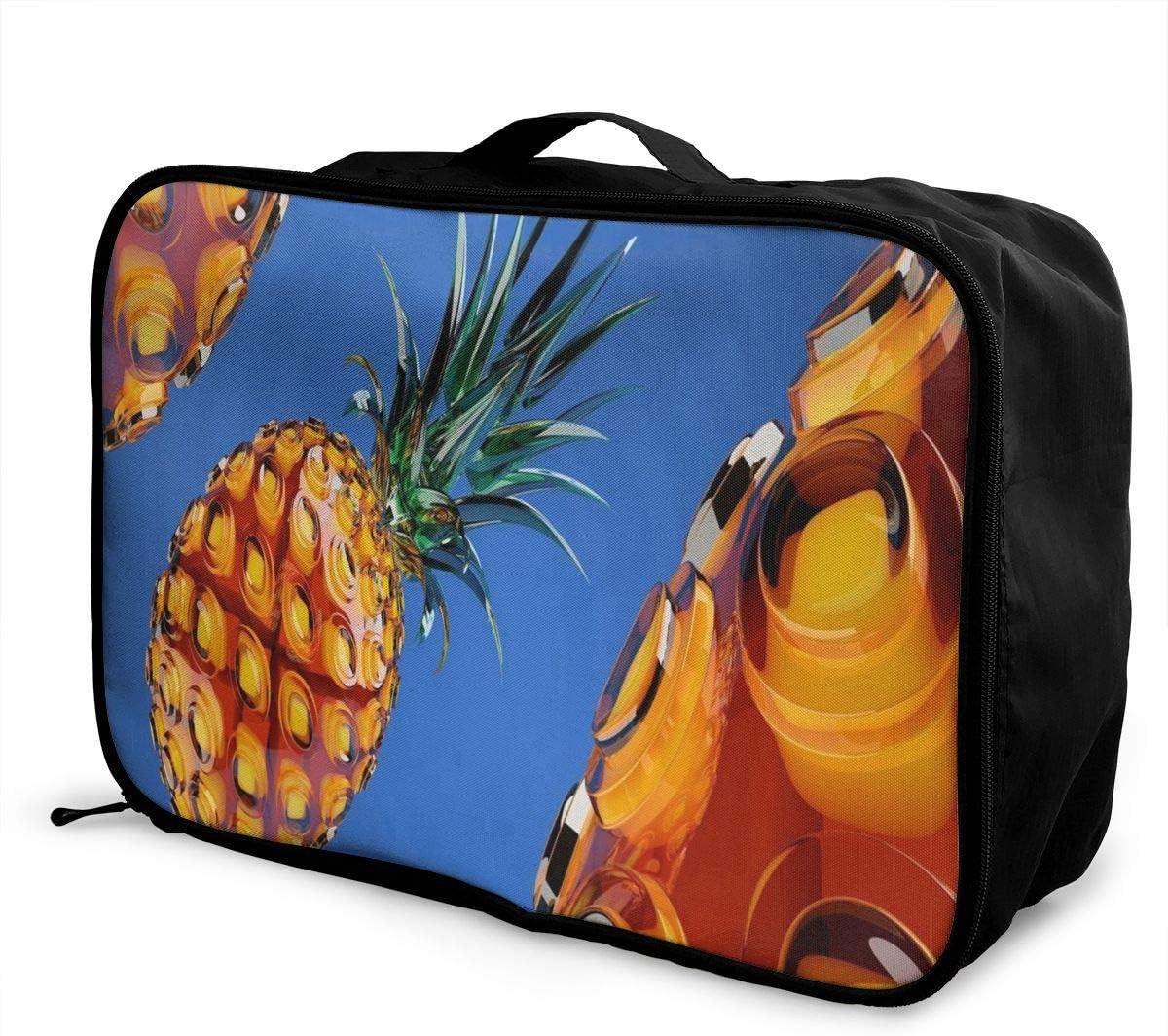Travel Bags Drawing Art Eiffel Portable Foldable Trolley Handle Luggage Bag