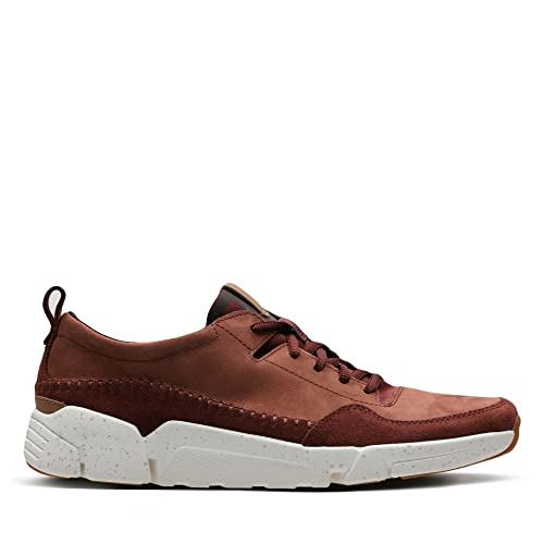 Clarks Tri Active Run Nubuck Shoes In Rust Standard Fit Size 7