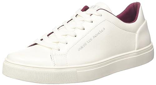 Guess Active Man, Zapatillas para Hombre, Blanco (White White), 44 EU