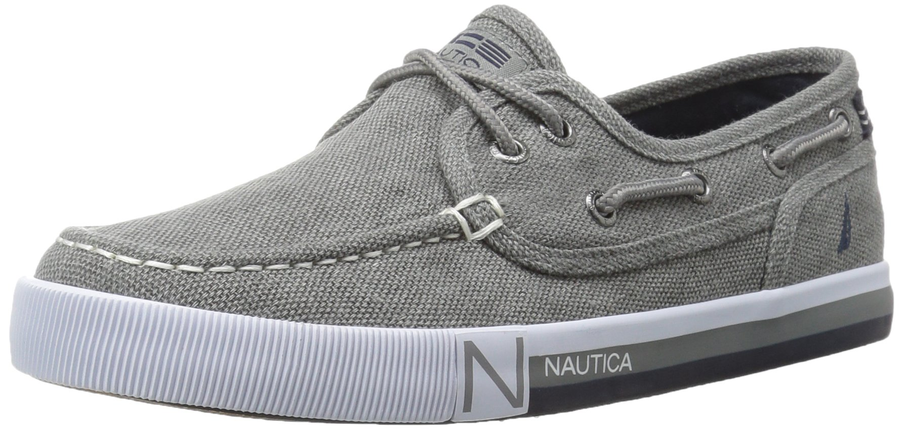 Nautica Boys' Spinnaker Boat Shoe, Grey Washed, 1 M US Little Kid