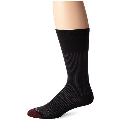 Allen Edmonds Men's Merino Wool Blend Mid Calf Socks, Black, Sock Size:10-13/Shoe Size: 6-12 at Men's Clothing store