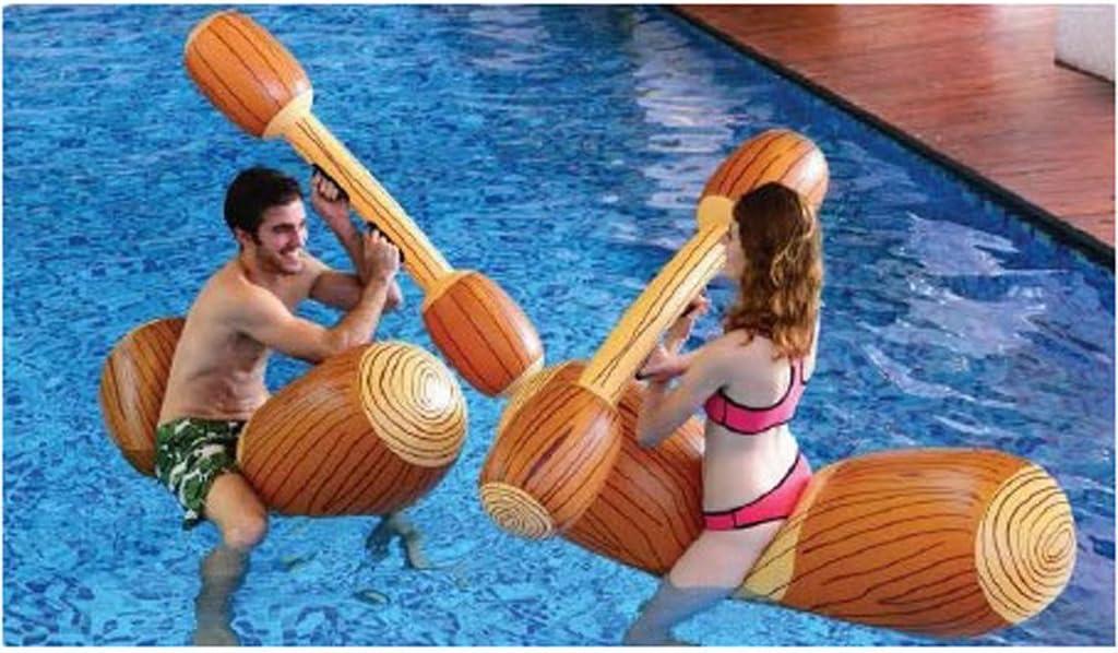 Juego de batalla Flotador de la Piscina - 4 piezas: Amazon.es ...