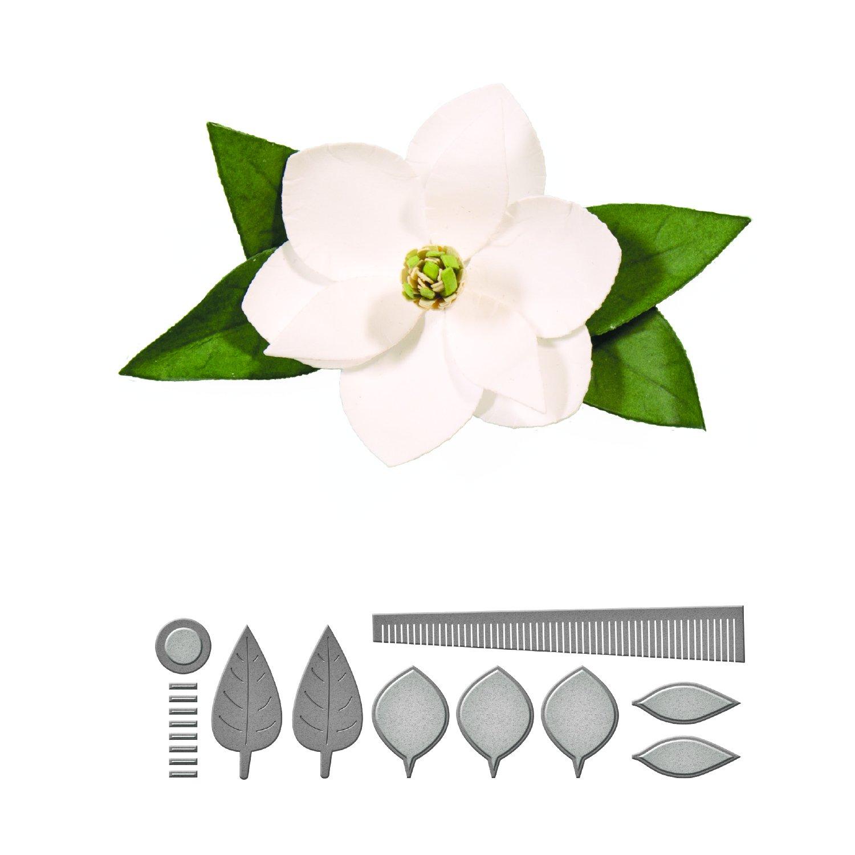 Spellbinders - Forme fustellate modellabili per creare un fiore di magnolia S2-196