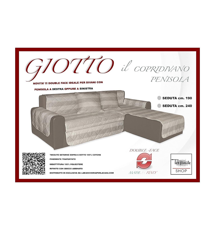 Sofá Giotto salvadivano con chaise longue acolchado Riga ...