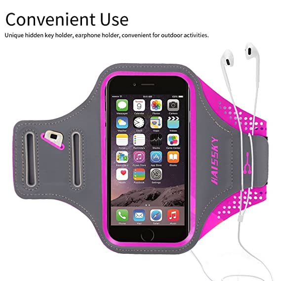 HAISSKY iPhone 7 Plus Armband Case, iPhone 6/6s Plus Arm Band for Walking