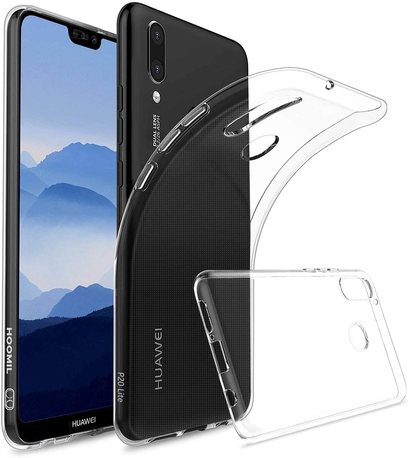 HOOMIL Transparente Silicona Funda para Huawei P20 Lite, Clear ...