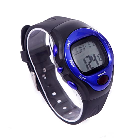 Amazon.com : HDE Fitness Sports Pulse Watch with Heart Rate Monitor and Calorie Counter Weightloss Help (Blue) : Sports & Outdoors