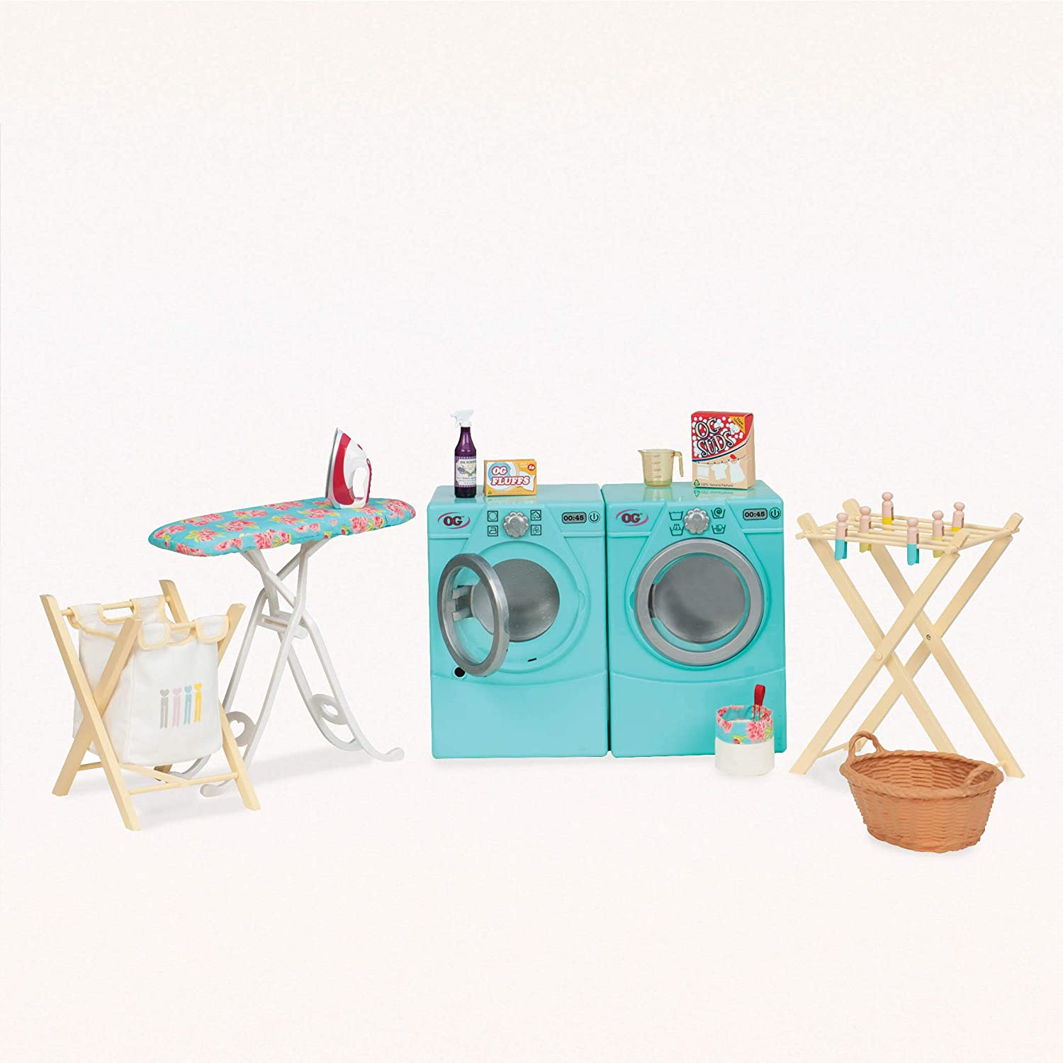 """Our Generation by Battat- Tumble & Spin Laundry Set for 18"""" Dolls- Toys, Clothes & Accessories for Girls 3-Year-Old"""